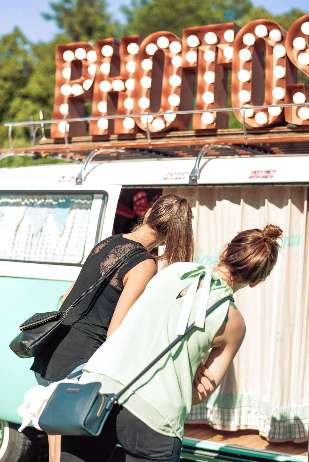 Die Fotobox im Photobus beim Event in Konstanz