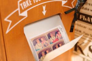 Sofortdruck Funktion der Photo Booth in unserem Fotobus