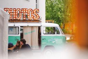Der Photobus bei der Werkschau 2017 der HTWG Konstanz