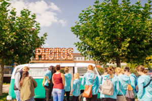 Die Fotobox im Photobus beim Oldtimerbrunch Konstanz 2017