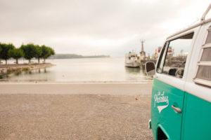 Hafen Konstanz am Morgen mit dem Photobus