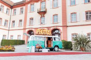 Photobus auf der Insel Mainau bei der Hochzeitsmesse
