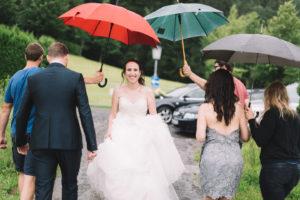 Hochzeitsfotografie im Regen